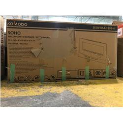 """KOMODO SOHO WALLMOUNT FIREPLACE (40""""W X 6.18""""D X 18""""H)"""