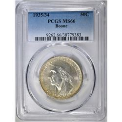 1935/34 BOONE COMMEM HALF PCGS MS-66