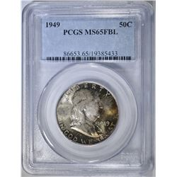 1949 FRANKLIN HALF DOLLAR PCGS MS-65 FBL