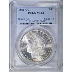 1881-CC MORGAN DOLLAR PCGS MS-64