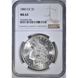 1883-CC MORGAN DOLLAR NGC MS-63
