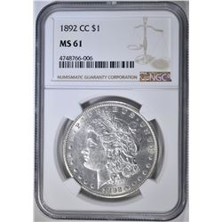 1892-CC MORGAN DOLLAR NGC MS-61