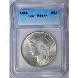 1925 PEACE DOLLAR ICG MS-64+
