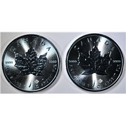 2-2017 GEM BU CANADA 1-Oz .9999 SILVER MAPLE LEAF
