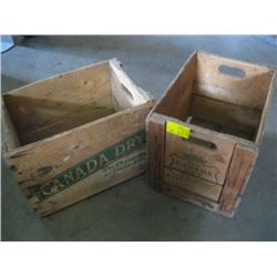 2 CANADA DRY WOODEN CRATES