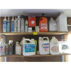 LOT OF FLUIDS & CLEANERS