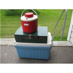 COOLER, CAMP STOVE, CANNER, ETC.