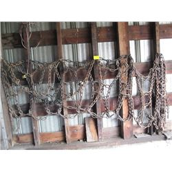 PAIR OF TRACTOR TIRE CHAINS