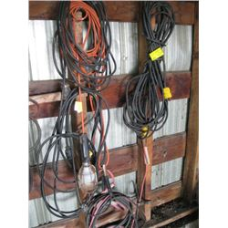 EXTENSION CORDS, TROUBLE LIGHT, JUMPER CABLES