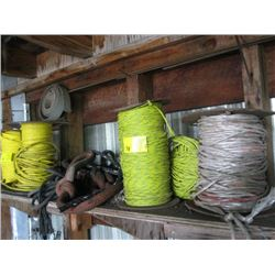 LOT OF MISC. ROPE