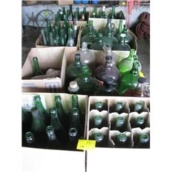 LOT OF WINE BOTTLES & 1 GAL. JUGS