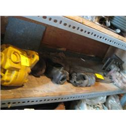 LOT OF MISC. HYDRAULIC MOTOR, HITCHES, ETC.