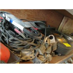 LOT OF MISC. - WHEEL, MIRROR, TIE DOWNS, ETC.