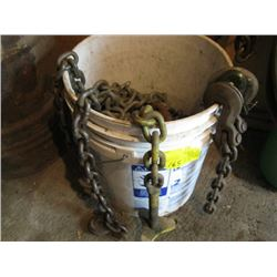 BUCKET OF MISC. CHAIN & PIECES