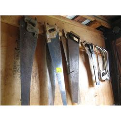 LOT OF WOOD & METAL HAND SAWS
