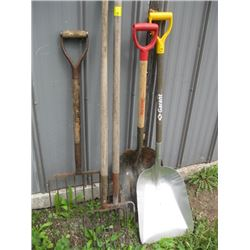 BUNDLE OF SHOVELS & FORKS