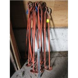 LOT OF 15 AUGER TIE DOWNS