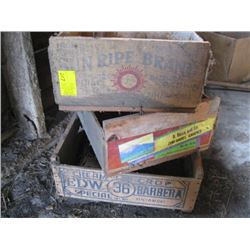 3 WOODEN CRATES
