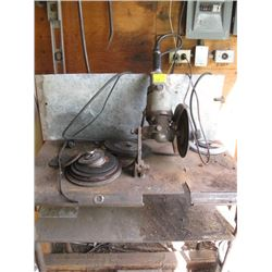 METAL ANGLE GRINDER / CUT-OFF SAW ON TABLE