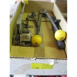 BOX OF BANDING TOOLS