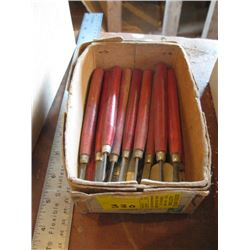 BOX OF CARVING TOOLS