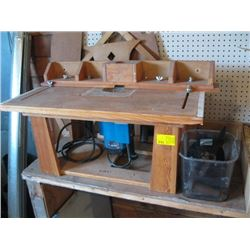 SHAPER/ROUTER TABLE W/RYOBI ROUTER