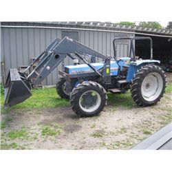 LANDINI 8860 4x4 TRACTOR W/FRONT END LOADER, 3,329