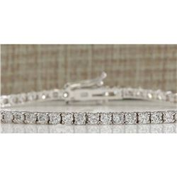 3.85 CTW Natural Diamond Bracelet In 18K Solid White Gold