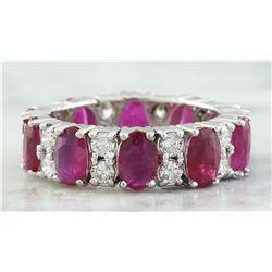7.50 CTW Ruby 14K White Gold Diamond Eternity Ring