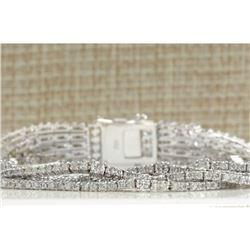 8.24CTW Natural Diamond Bracelet In 18K Solid White Gold