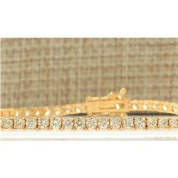 4.68 CTW Natural Diamond Bracelet In 14k Yellow Gold