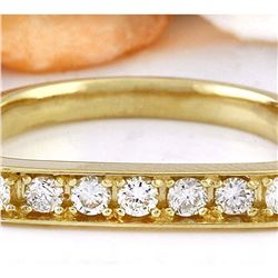 0.50 CTW Natural Diamond 18K Solid Yellow Gold Ring