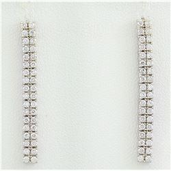 0.80 CTW Diamond 18K White Gold Earrings
