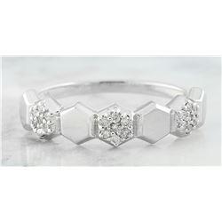 0.10 CTW Diamond 18K White Gold Ring