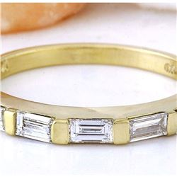 0.41 CTW Natural Diamond 18K Solid Yellow Gold Ring
