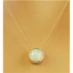 1.50 CTW Opal 18K Yellow Gold Necklace