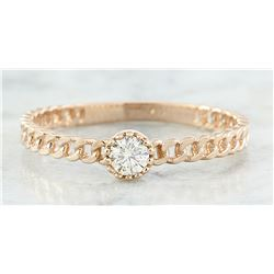 0.10 CTW Diamond 18K Rose Gold Solitaire Ring
