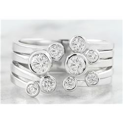0.60 CTW Diamond 14K White Gold Ring