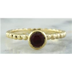 0.40 CTW Ruby 18K Yellow Gold Ring