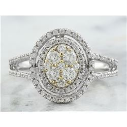 0.60 CTW Diamond 18K White Gold Ring