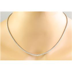 4.00 CTW 18K White Gold Diamond Necklace