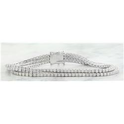 4.30 CTW Diamond 14K White Gold Braclet