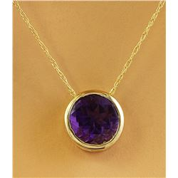 1.50 CTW Amethyst 18K Yellow Gold Necklace
