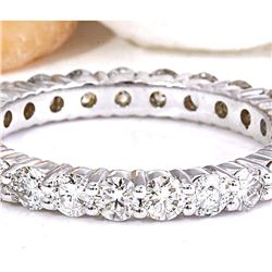 2.00 CTW Natural Diamond 18K Solid White Gold Ring