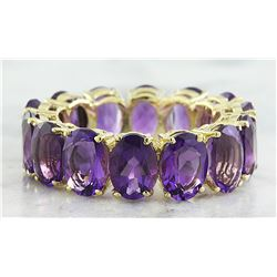 10.00 CTW Amethyst 14K Yellow Gold Ring