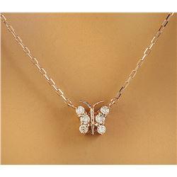 0.20 CTW Diamond 14K Rose Gold Necklace