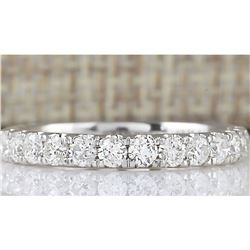 0.80 CTW Natural Diamond Ring 14k Solid White Gold