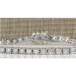 5.90 CTW Natural Diamond Bracelet In 18K Solid White Gold