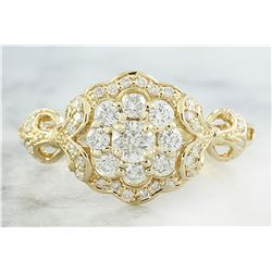 0.42 CTW Diamond 14K Yellow Gold Ring