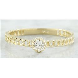 0.10 CTW Diamond 18K Yellow Gold Solitaire Ring